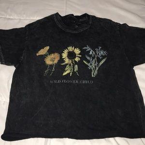 Tops - flower crop top